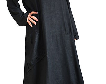 Soft Hemp Loose Long Dress No2 (DNN-081-01)