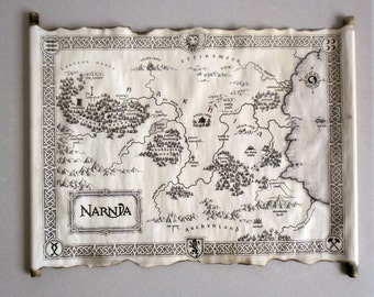 NARNIA MAP The Chronicles of Narnia Map Map Of Narnia Narnia Art Narnia map the lion the witch and the wardbobe Vintage Narnia map Fantasy