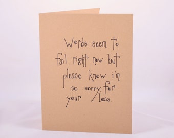 Miscarriage Card - Miscarriage Sympathy Card - Pregnancy Loss Sympathy Card - Loss of Baby Card - Loss of Baby Condolence Card - Bereavement