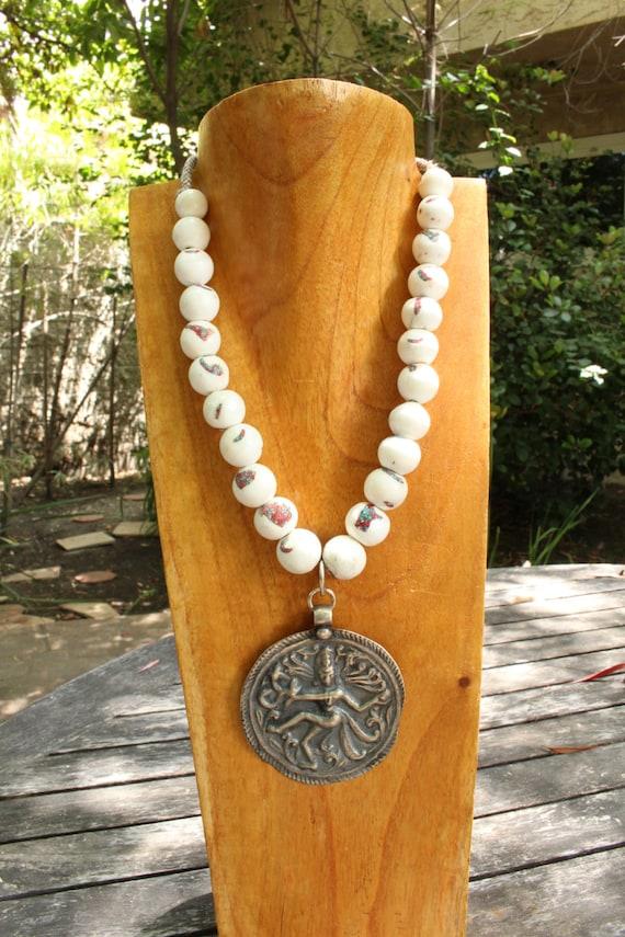Silver Dancing Krishna Pendant