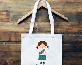 Girl Scout Personalized Tote Bag// School Book Bag