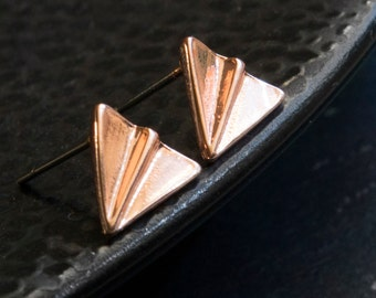 Paper airplane ear studs