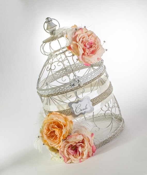 Card Holder - Wedding Decor - Elegant Wedding - Vintage Wedding - Garden Wedding - Wedding Card Holder - Birdcage Card Holder
