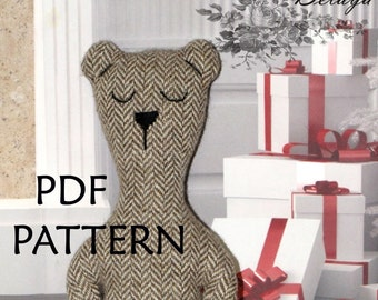 PDF Pattern. Bear Toy Pattern. Sewing Pattern ONLY. Soft toy Pattern. Cloth toy Pattern. Plush toy Pattern. Instant Download. Digital files.