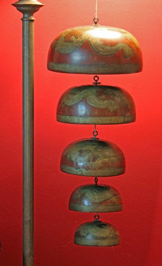 Antique Tibetan Temple Bells Or Gongs Hand Hammered