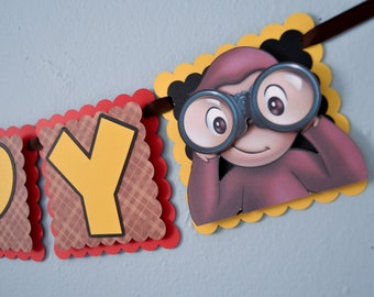 Curious George Birthday Banner