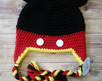 Mickey Mouse Inspired Crochet Hat