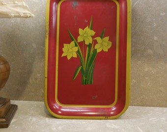 Vintage Tulip Serving Tray
