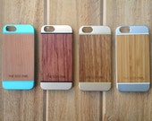 IPhone 6 Case, Wood and Aluminium iPhone case, Wood case for iPhone 6 and iPhone 6s, High quality iPhone case, best gift for christmas