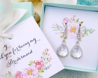 Bridesmaid jewelry set of 6 earrings - bridesmaid gift - bridesmaid earrings - bridesmaid proposal