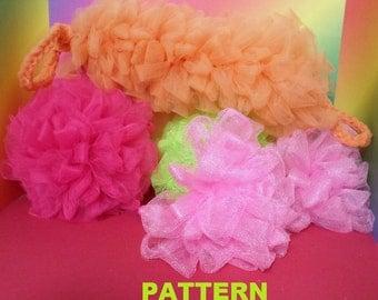 PATTERN Bath Scrubbers 3 styles crocheted