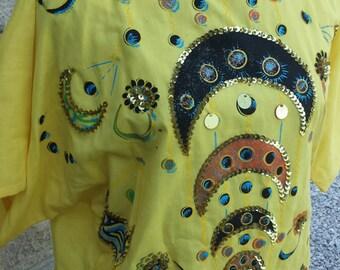 Vintage hand painted boho dress