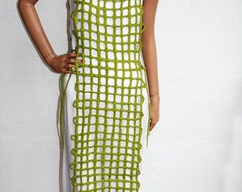 Summer Dress, Felted Dress, Green Made of Silk and Merinowool