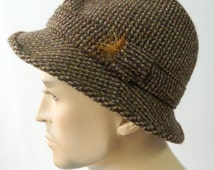 Mens Pure New Wool Tweed Walking Trilby Failsworth Hat Size 56 S-M