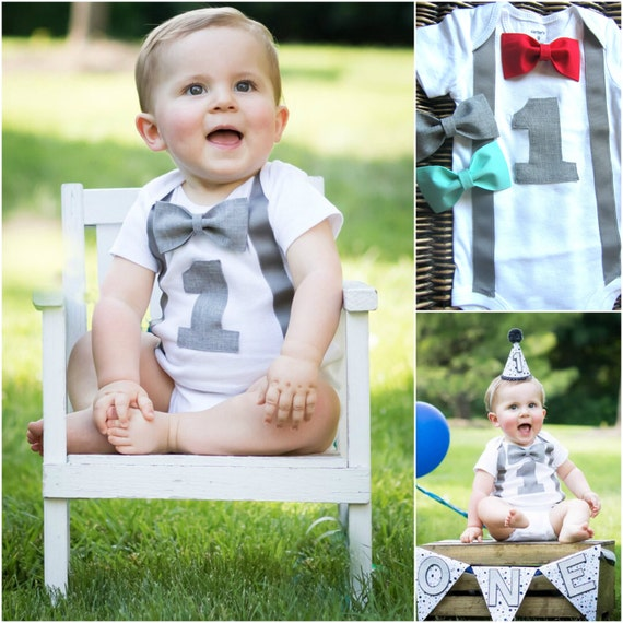 For playful parties, bow tie and suspender outfits for baby boy make a comfortable pick as a baby boy First birthday dress. Explore the exclusive collection of handcrafted line of baby boy 1st birthday dresses between 0 to 6 months and one year for cheerful celebrations.