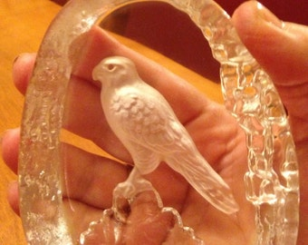 Beautiful Wedgewood Crystal Hawk/Falcon Paperwieght