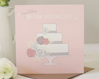 Amelia Wedding Card, Congratulations Card, Greetings Card, Stationery, Paper Goods