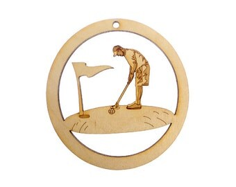 Golf Christmas Ornaments - Golfing Ornament - Gift for Golfer - Golf Ornaments - Personalized Free