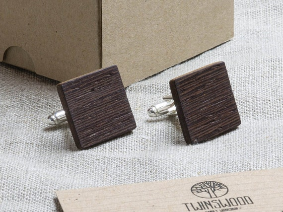 Wenge Wood Cufflinks. Personalized CuffLinks. Engraved Monogrammed Initial Wooden Cufflinks. Сustom cufflinks. Groomsmen Gift. Xmas gift.