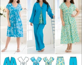 Simplicity Women Dress, Skirt, Pants, Top and Jacket. Simplicity 2660. Plus size 20w-28w. New and uncut.