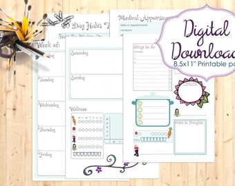 A5 Printable Self-Care Planner