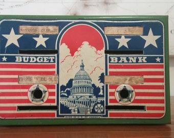 Vintage Marx Toy Budget Bank