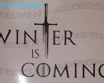 Winter is Coming Vinyl Decals