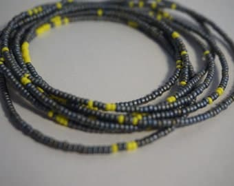 Wrap bracelet Yellow Grey