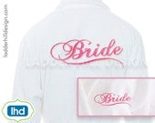 Bride with Swoosh Wedding Embroidery Design WED004