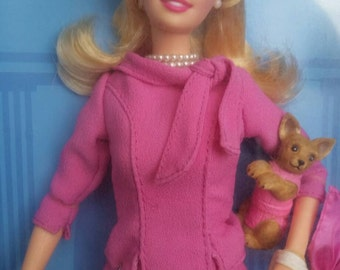 2003 New in Box Legally Blond 2 Barbie, Red, White, and Blonde, Legally Blond Barbie, Vintage Barbie, Reese Witherspoon Barbie Doll with Dog