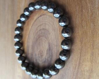Hematite Bracelet, Stacking Bracelet, Men's Bracelet, Mala Bracelet, Layering Bracelet, Beaded Bracelet, Gift for Men, Men's Fashion