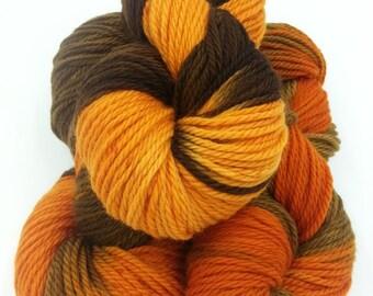 Superwash merino, Hand dyed striped aran yarn value pack, 3 - 100g skeins