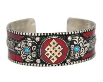 Coral bracelet Nepal Bracelet Tibet bracelet Tibetan bracelet coral jewelry gypsy bracelet boho bracelet hippie bracelet tribal BB11