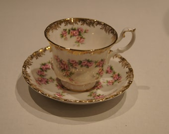 Royal Albert Dimity Rose Cup and Saucer