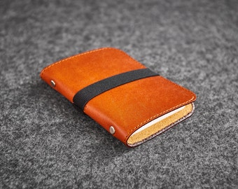 Leather Card Case Small Hand-made