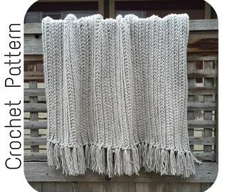 Crochet PATTERN | Chunky Dove Throw Crochet Pattern | Bulky Throw Crochet Pattern | Fringe Blanket Pattern | Easy Crochet Pattern | PDF