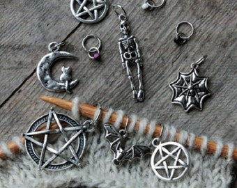 Occult - set of 10 stitch markers
