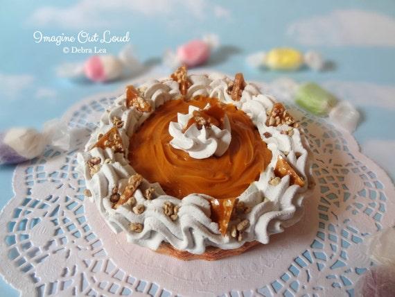 Fake Pie Tart Dessert Caramel Custard Sweet Home Decor Kitchen Photo Prop Display Gift