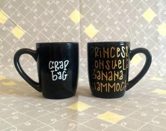 crap bag and princess consuela banana hammock mug  friends mug  friends tv show mug crap bag mug   etsy  rh   etsy