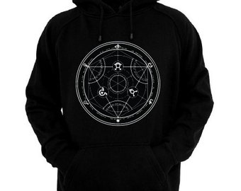 WITCH CIRCLE HOODIE pullover Size S **Free Shipping**