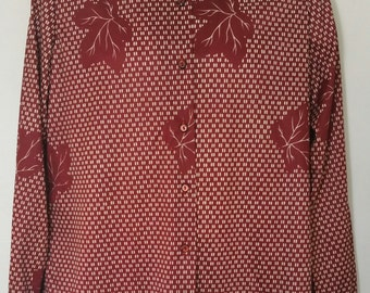 NWT New Vintage Womens Alex Colman Sportswear  Blouse Size 16 Mint
