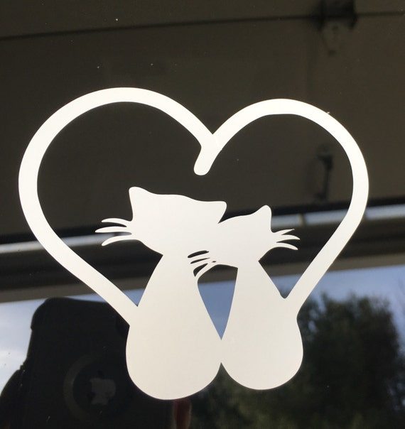 Cat Car Decal Pet Decal Cat Decal Car Decal Vinyl Decal