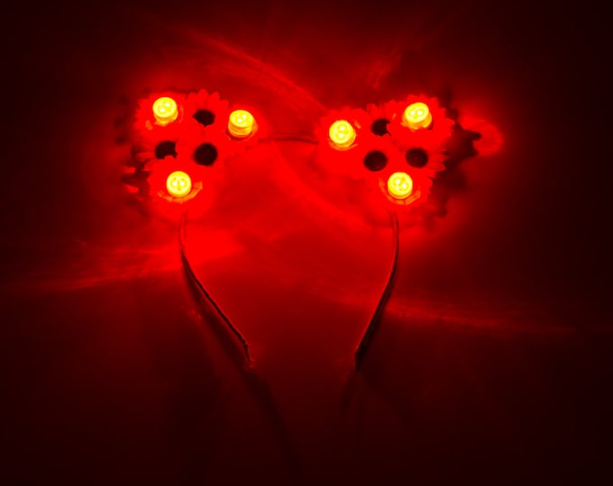 Red LED Cat Ear Headband