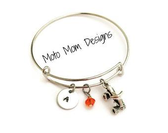 Motocross Bracelet - Motocross Jewelry - ATV - Racing - Motocross Gift - Charm Bracelet - Personalized - Quad Racing - MX Jewelry