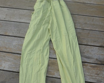 Vintage retro lime green jumpsuit Indian playsuit funky