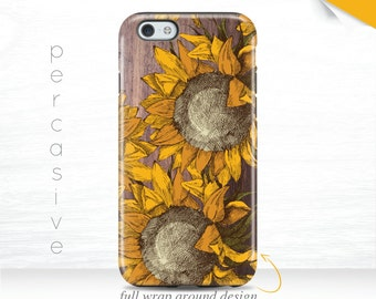 iPhone 7 Plus Case Sunflower Summer Galaxy S7 Case Rustic Wood Print iPhone 6s Case Yellow iPhone 5 Case Sunflower iPhone 7 Case  08t