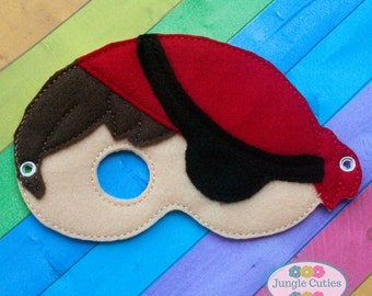 Pirate Mask (M022), Children's Mask for Dress-Up, Party Favors