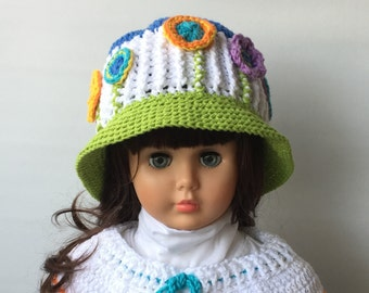 Crochet Patterns * BLOOM HAT * PDF Instant download # 517 * Flowers * Easter hat * Spring * Summer hat * baby toddler child teen adult *