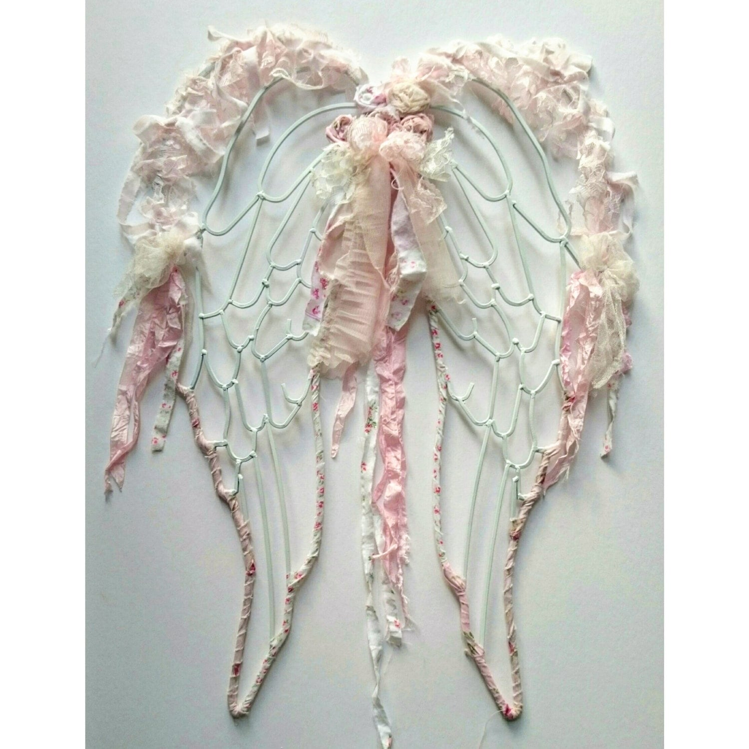 Shabby Chic Angel Wings Lace French Country