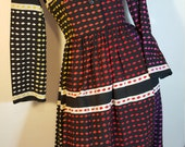 FREE  SHIPPING   Vintage  Lanvin  Dress